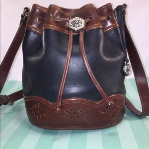 BRIGHTON Vintage Leather Bucket Bag