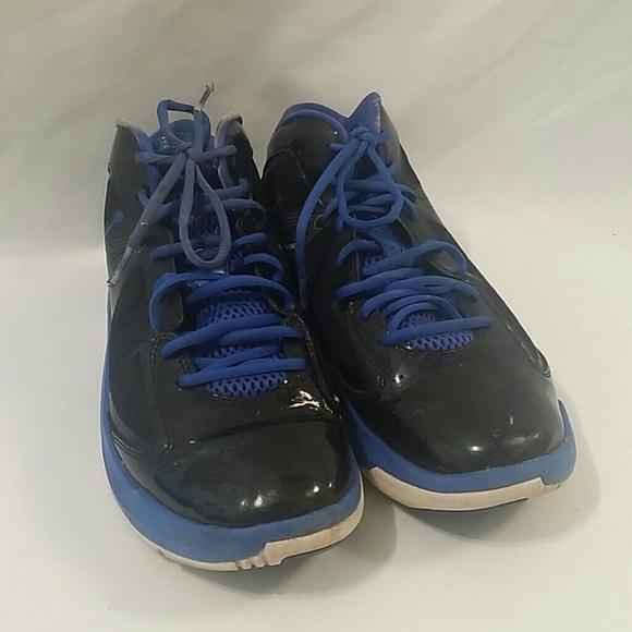 michael jordan shoe nike zoom black and blue Cheap ... fe41af6f5