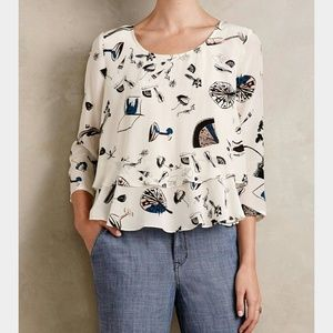 Anthropologie Maeve On the Town Swing top