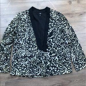 mossimo Jackets & Blazers - Mossimo target leopard blazer jacket one bottom