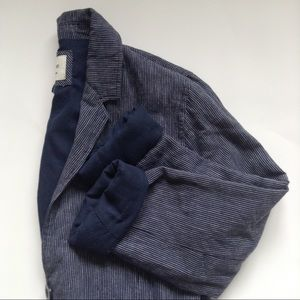 Blue Pin-Striped 3/4 Blazer