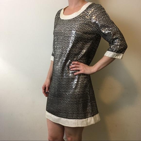 f779627f9480 Tory Burch Sequin Ivory Shift Dress. M_59287bcfc284567c6c003a1a