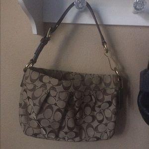 Coach Handbags - Coach Brown Signature Handbag