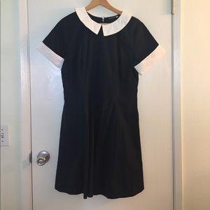 eshakti Dresses & Skirts - eShakti Woven Sailor Dress Navy & White Size XL 16