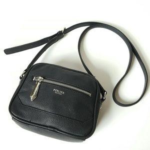 Perlina Handbags - Perlina | black leather crossbody bag! SALE!