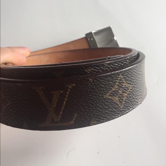 71% off Louis Vuitton Other - Men's leather belt original ...