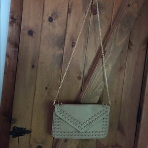 Urban Expressions tan studded cross body bag