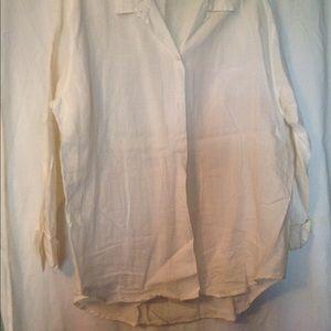 Merona White Linen Tunic