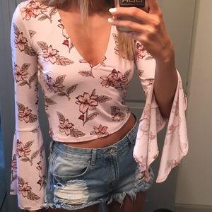 Pink Crop Shirt