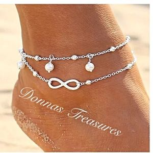 Jewelry - ☀️Infinity & Pearl Anklet