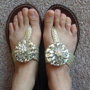 Beverly Feldman Shoes - Beverly Feldman sandals with clear stones