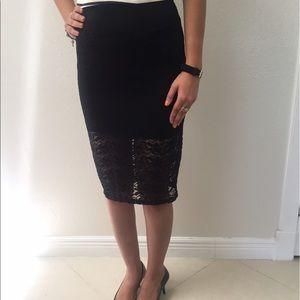 Stylish Black Lace Skirt