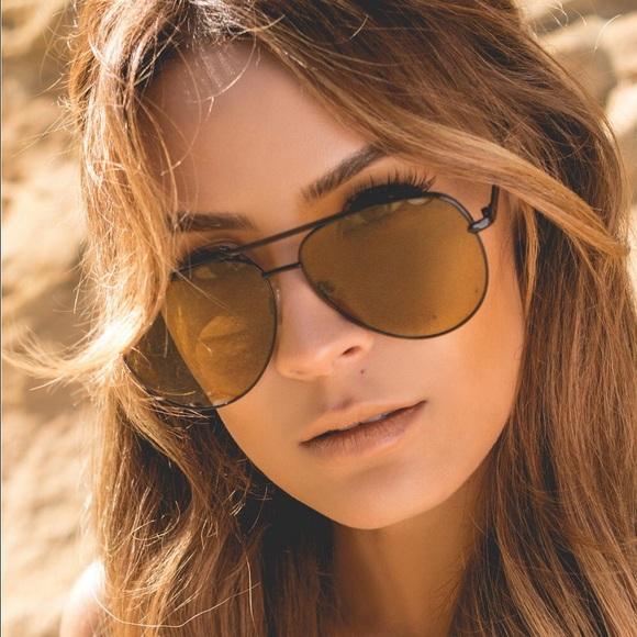 686ceabd59 Quay x Desi Sahara in Olive Aviator Sunglasses