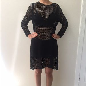 Gorgeous Black Fishnet Coverup