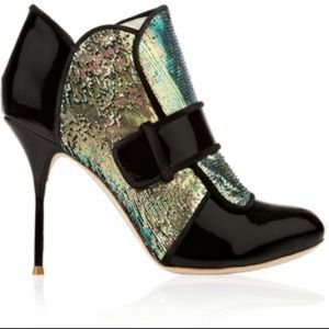 Fashion! Patent leather and sequin booties!!