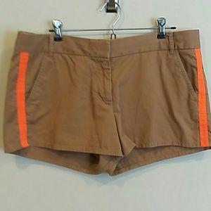 J. Crew size 12 cotton chino shorts