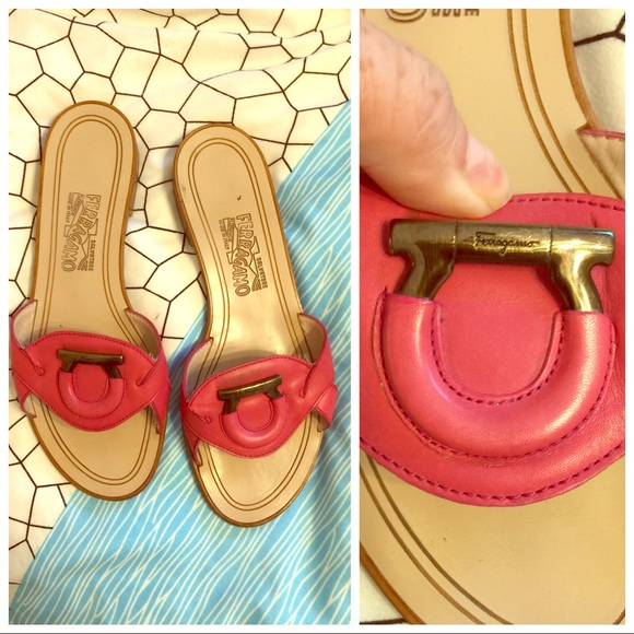 Salvatore Ferragamo Shoes - Salvatore Ferragamo Pink Slides