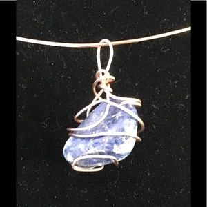 Beautiful 🌺Blue Agate Stone with Copper!🌺NWT!