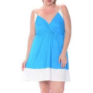 Bellino Clothing Dresses & Skirts - 🆕 (1X, 2X, 3X) Plus Size Color Block Dress