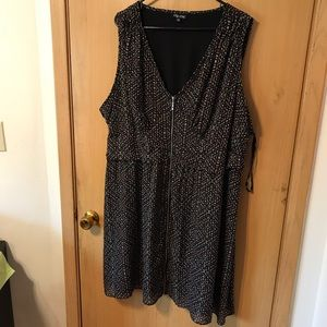 City Chic Dresses & Skirts - Black tunic dress with neon Aztec print