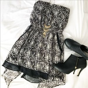 Stella & Jamie Dresses & Skirts - Stella & Jamie Silk Asymmetrical Mini Dress