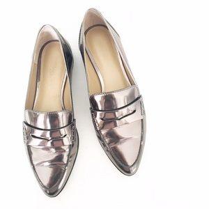 MICHAEL Michael Kors Shoes - MICHAEL Michael Kors Pewter Metallic Loafers