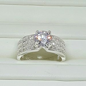 Sterling Silver Solitaire Wedding Ring