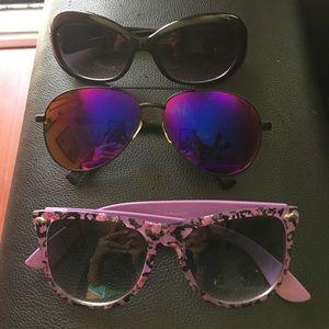 Super Sunglasses Accessories - 3 set of glasses