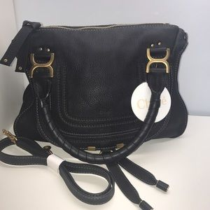 Chloe Marcie Medium Black Handbag Satchel