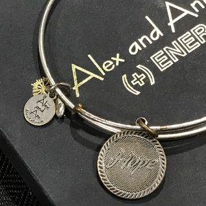 Alex And Ani Jewelry - Alex and Ani Silver hope bracelet