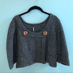 Free People Wool Blend Grey Sweater