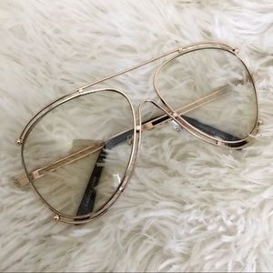Chloe Accessories - NEW | ROSE GOLD MODIFIED AVIATOR CLEAR | OVERSIZED