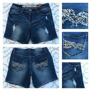 Hydraulic Pants - 💙👖Adorable Hydraulic Jean Shorts👖💙29 7/8 6""