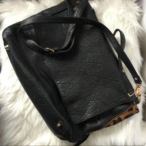 Top shop leather messenger bag