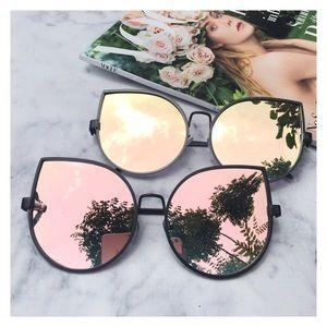 Accessories - Rose Gold On Black Cat Eye Sunglasses