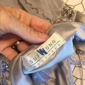 Sue Wong Dresses - Sue Wong Silver Beaded Flapper Dress