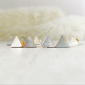 Jewelry - Natural Shell Triangle Studs