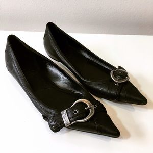 Christian Dior Leather Pointy Toe Flats