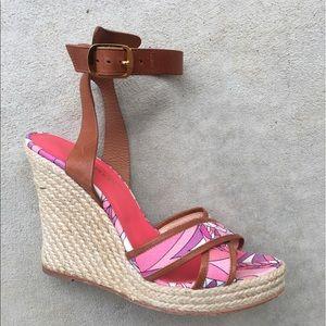 Emilio Pucci Shoes - Designer Emilio Pucci Wedge Sandals