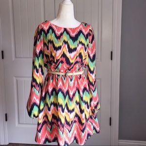 Takara Dresses & Skirts - Multicolor belted dress