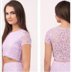 Tobi Tops - NWT Tobi Lavender Lace Crop Top