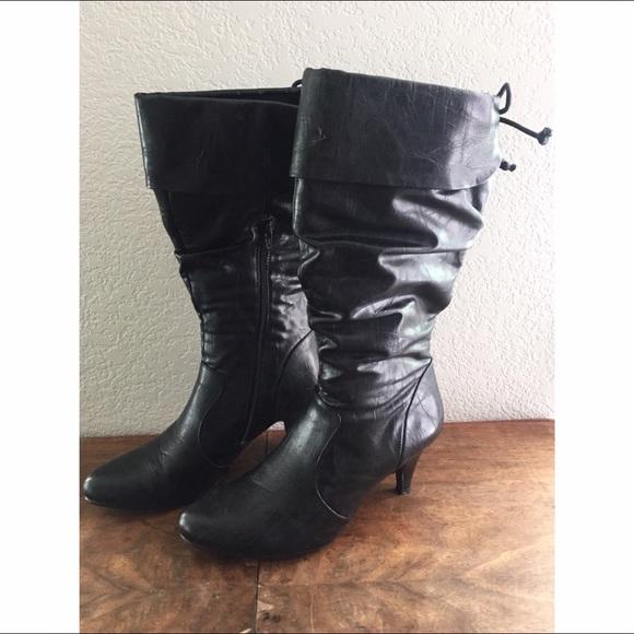 81 rialto shoes rialto slouchy black leather heeled