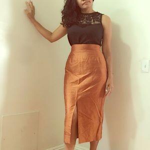 Tafetta style Vintage pencil skirt