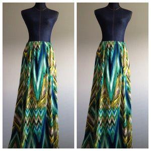 Susan Graver Dresses & Skirts - Susan Graver Multicolor Maxi Skirt