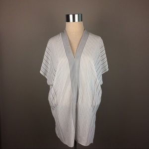 Joan Vass pinstripe tunic coverup