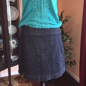 EUC J. Crew business casual denim pencil skirt 6