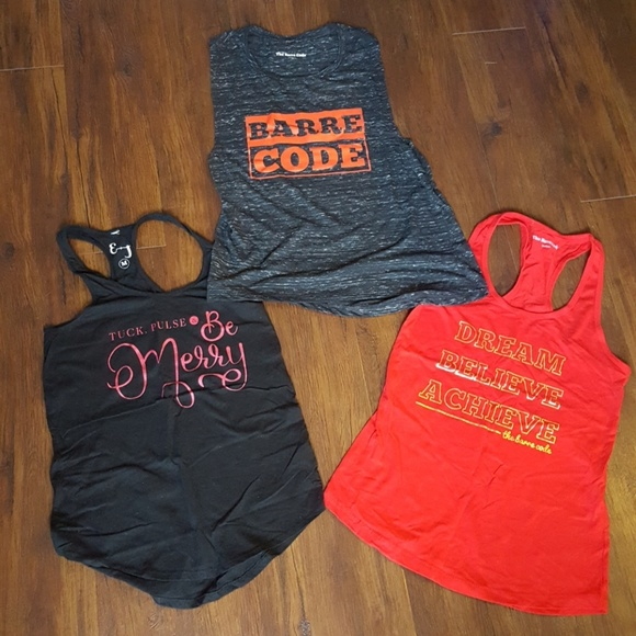 the Barre code Tops - Final! Lot of 3 Barre Code workout tank tops
