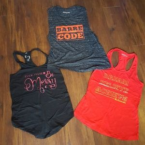 Final! Lot of 3 Barre Code workout tank tops