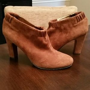 "Sam Edelman Suede ""Simone"" Leather Booties"