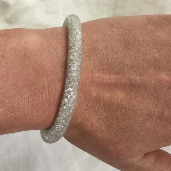 Swarovski Crystaldust bracelet - white